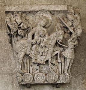 Fuite en Egypte Cathédrale St Lazare d'Autun XIIIième