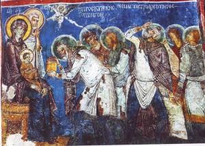 Présentation aux Mages fresque en Capadoce
