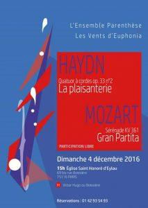 Concert Ensemble Parenthèse Haydn Mozart